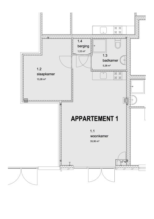 Plattegrond appartement 4